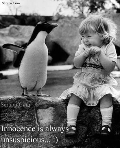 Innocence is always unsupcicious. image