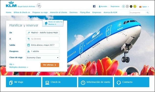 Abrir mi cuenta KLM
