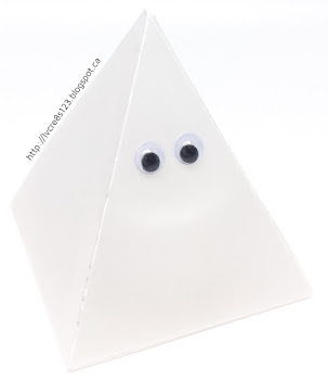 Linda Vich Creates: A Halloween Treat, A Ghost, and Other Creepy Stuff. A ghost created by using vellum, a tea light and the pyramid pals thinlits.