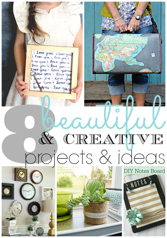 8 Beautiful & Creative Projects & Ideas at GingerSnapCrafts.com #LinkParty #Features