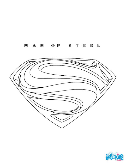 Superman Superman Online Coloring Page