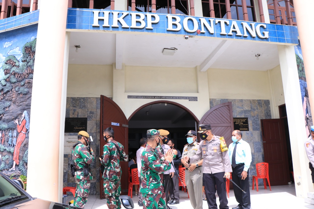 Perayaan Paskah di Bontang, TNI/POLRI Laksanakan pengaman dan Patroli Gereja