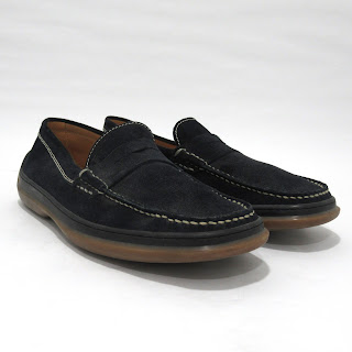 Tod's Navy Black Suede Loafers