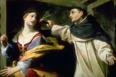 La tentación de Santo Tomás de Aquino por Giovan Francesco Gessi (1588-1649)