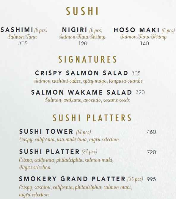 منيو مطعم ذا سموكري 3