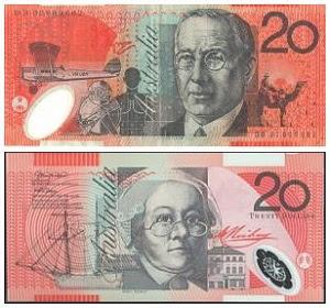 Gambar uang dolar Australia dan penjelasan foto tokohnya