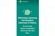 Muncul Pemberitahuan WhatsApp di Status Pengguna, Ada Apa?