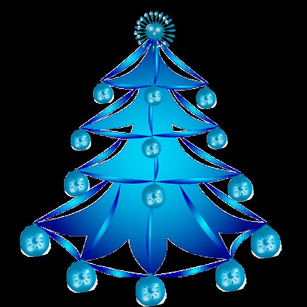 arvore de natal azul