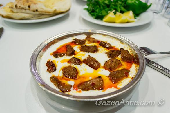 İmam Çağdaş'ta yediğimiz Ali (ala) Nazik kebabı, Gaziantep