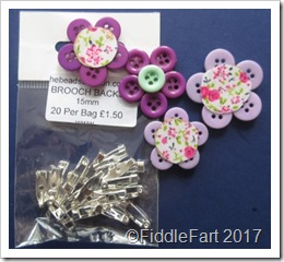 Button Brooch Brooch backs