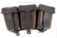 Front view of the German ammunition pouch