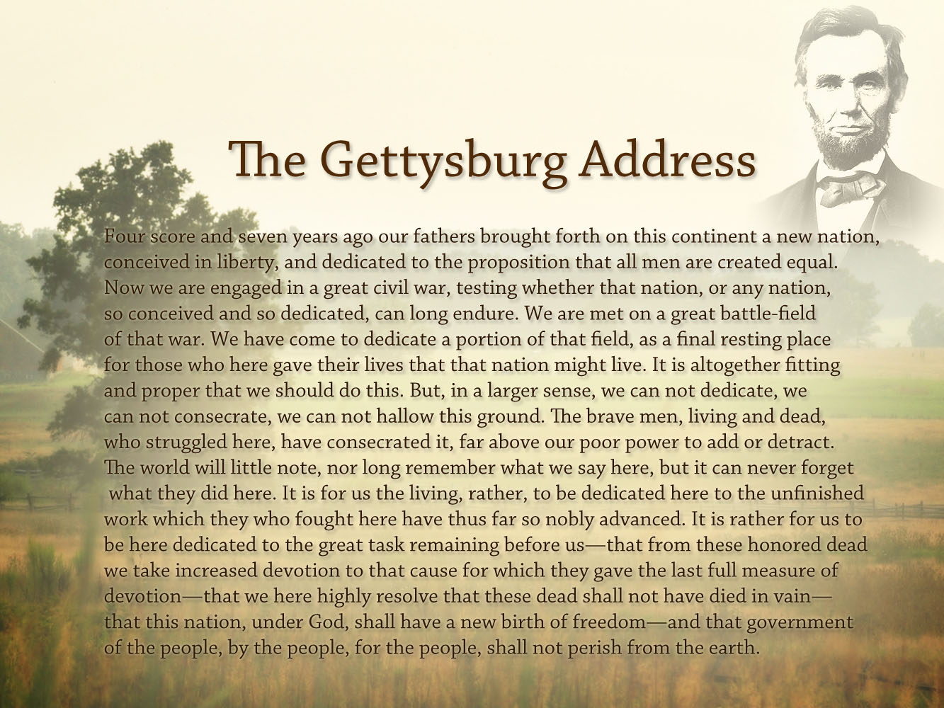 Can you explain Lincoln's Gettysburg Address in words that a teen can understand?
