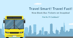 Snapdeal - Book Bus Tickets Worth 350 Rs Or More & Get 100 Rs Cashback