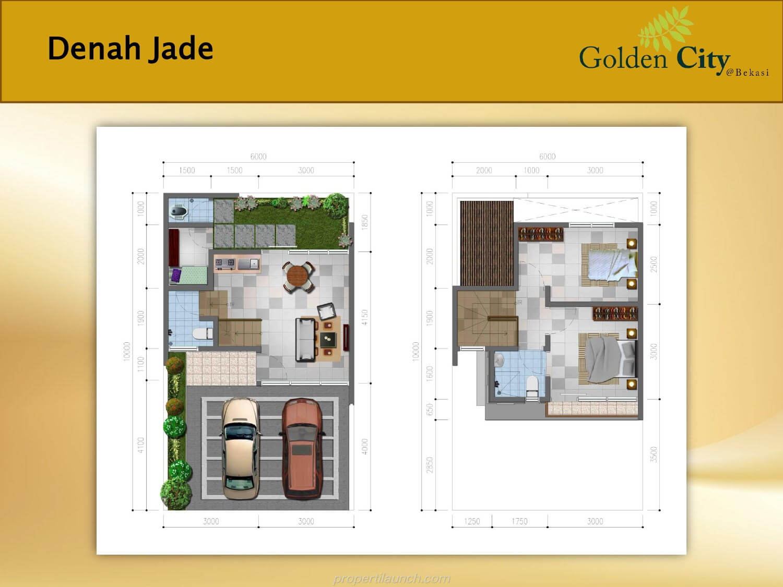 Denah Rumah Jade Cluster Diamond Golden City Bekasi