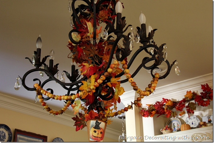 Halloween Decor on Kitchen Light