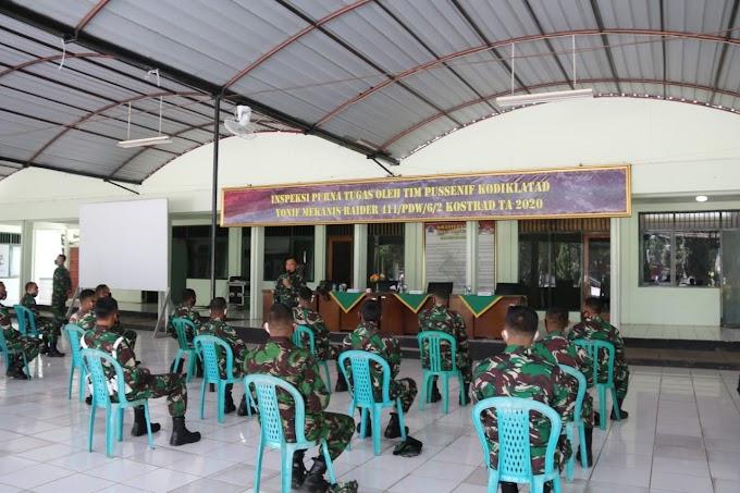 Yonif MR 411 Kostrad Terima Kunjungan Tim Inspeksi Pussenif Kodiklat TNI AD