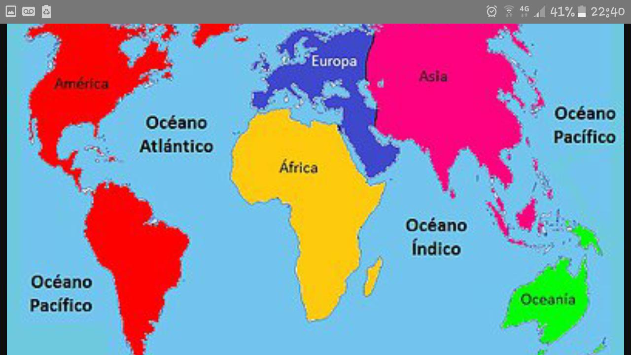 Planisferio-Océanos Y Continentes