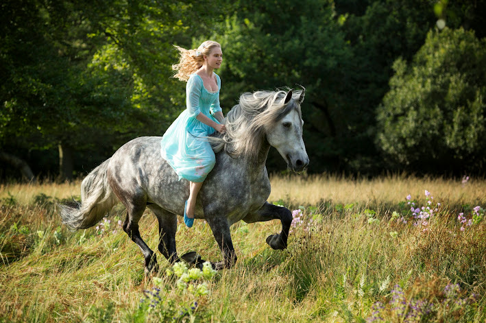 Lily James as Ella from the new Disney live-action Cinderella #Cinderella