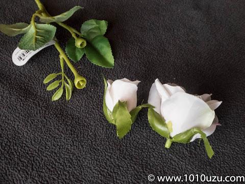 小バラも花と茎に分解