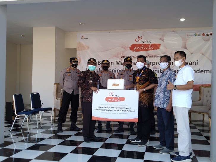 Salurkan Makanan Berprotein Hewani di Jateng & Jatim, JAPFA Dorong Peningkatan Imun Tubuh Masyarakat