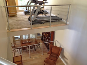 Stainless Steel Round Loft Living Room Railings