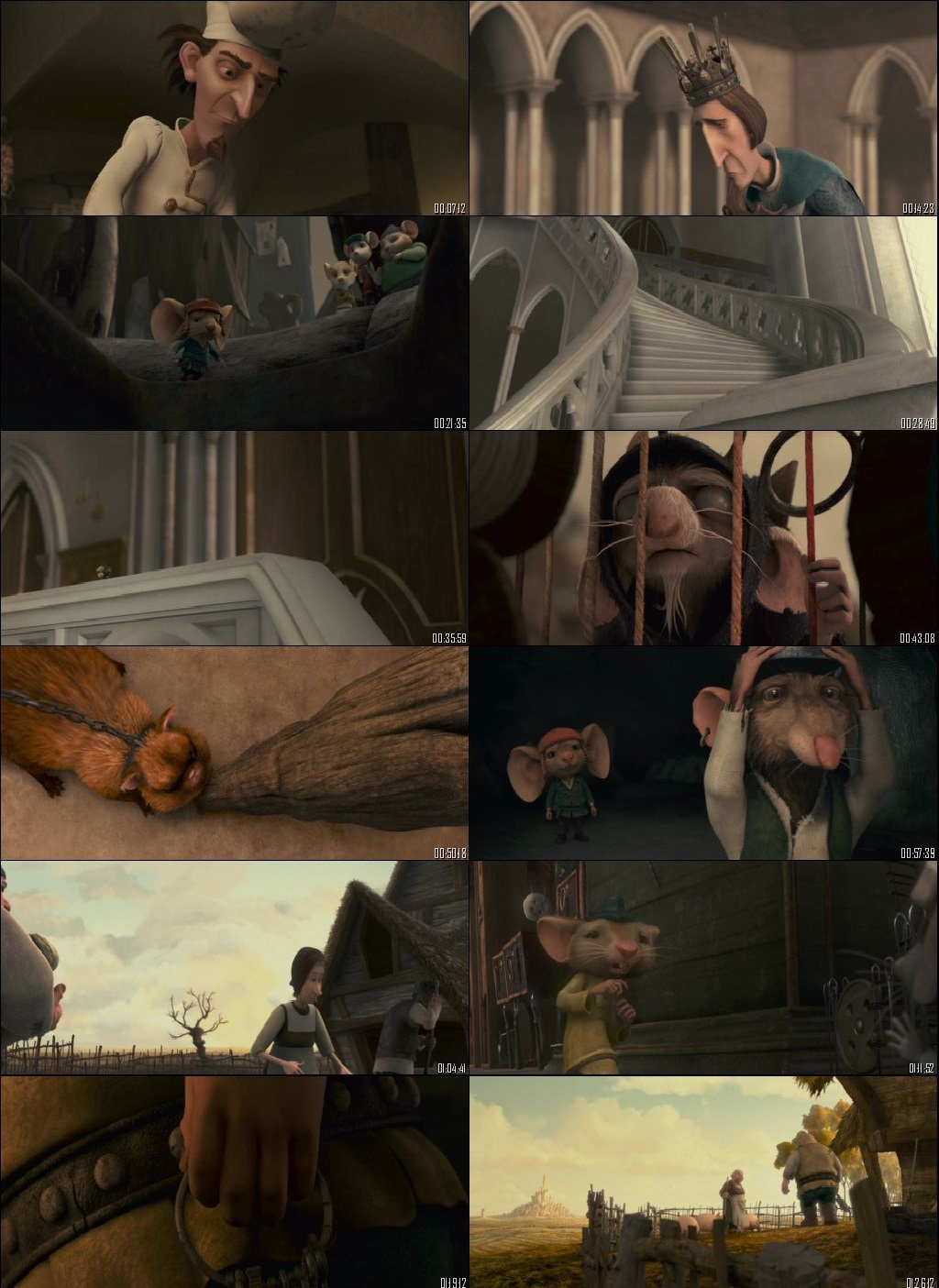 Screen Shot Of The Tale of Despereaux 2008 In Hindi English Dual Audio Bluray