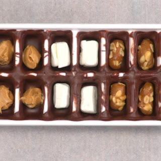 Ice Cube Tray Chocolates.