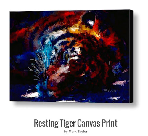 Resting Tiger by M.A