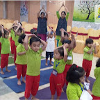 Yoga Day Celebrated by Nursery Morning Section at Witty World, Chikoowadi