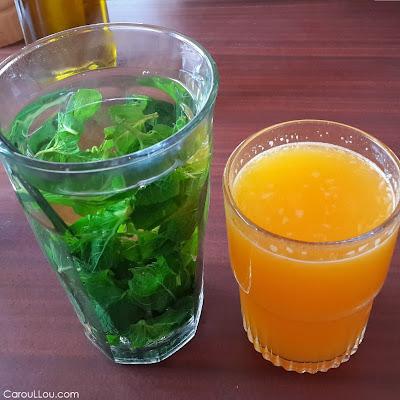 CarouLLou.com Carou LLou in Amsterdam mint tea and orange juice+