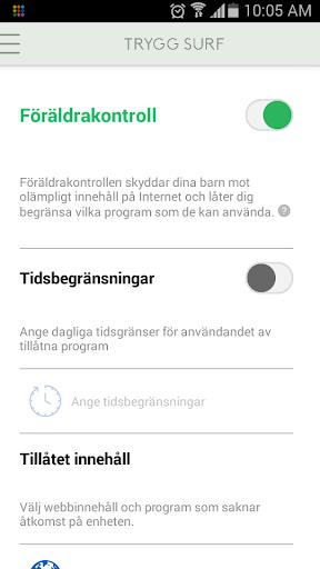 Trygg Surf screenshot