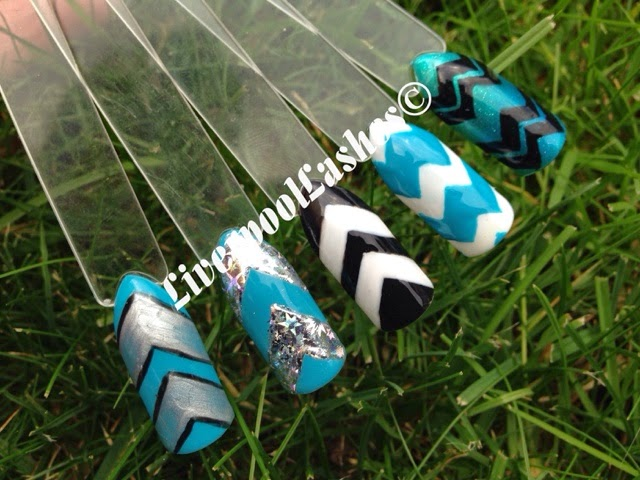 shellac chevron freehand zigzag nails nail tutorial liverpoollashes liverpool lashes