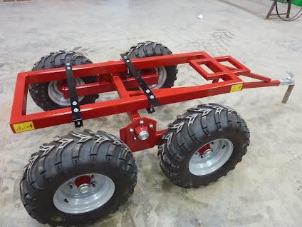 chariot porteur pour quad essieu mont sur balancier roues basse pression. Black Bedroom Furniture Sets. Home Design Ideas