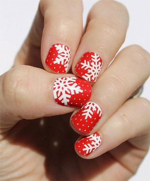 13 Christmas Snowflake Acrylic Nail Art Designs Stickers Fashionte