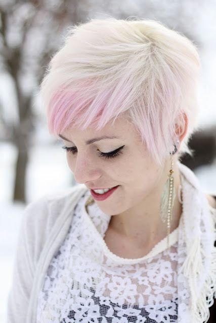 Hair:short hairstyles with different colors for 2018 8