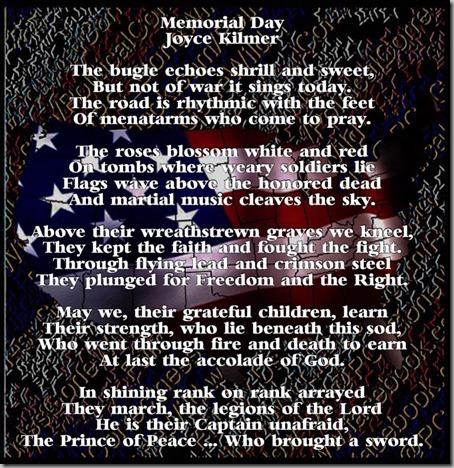 memorial day - kilmer