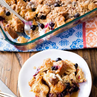 Unbelievable Blueberry French Toast Casserole.