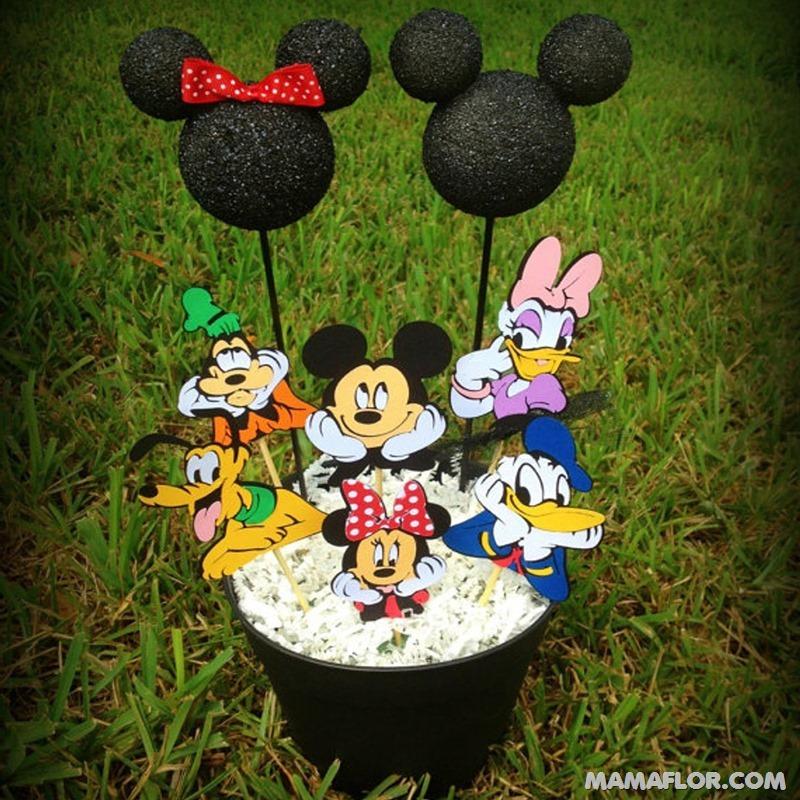centro de mesa mickey y minnie mouse --- (22)