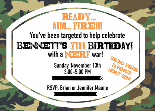 Soldier Nerf Gun Birthday Party featured by popular Arkansas lifestyle blogger, Maune Legacy