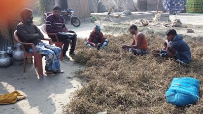 Community meeting at No 6 Char, Bongaigaon