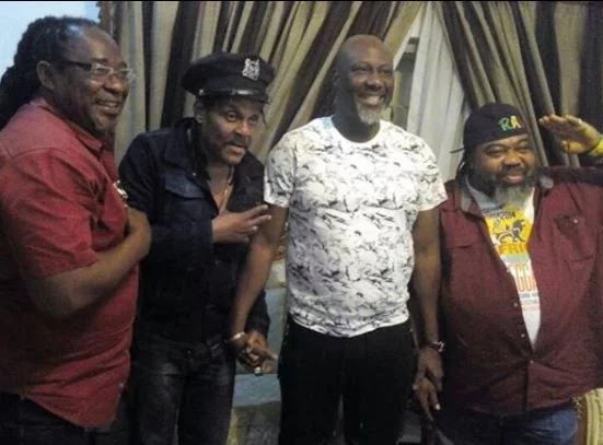 Ras Kimono, Majek Fashek and Oritz Wiliki arrive Kogi State for Dino Melaye's New Year Eve Party