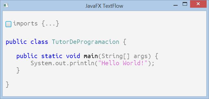 Estilizar código con TextFlow en JavaFX