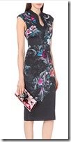 Ted Baker floral jersey dress