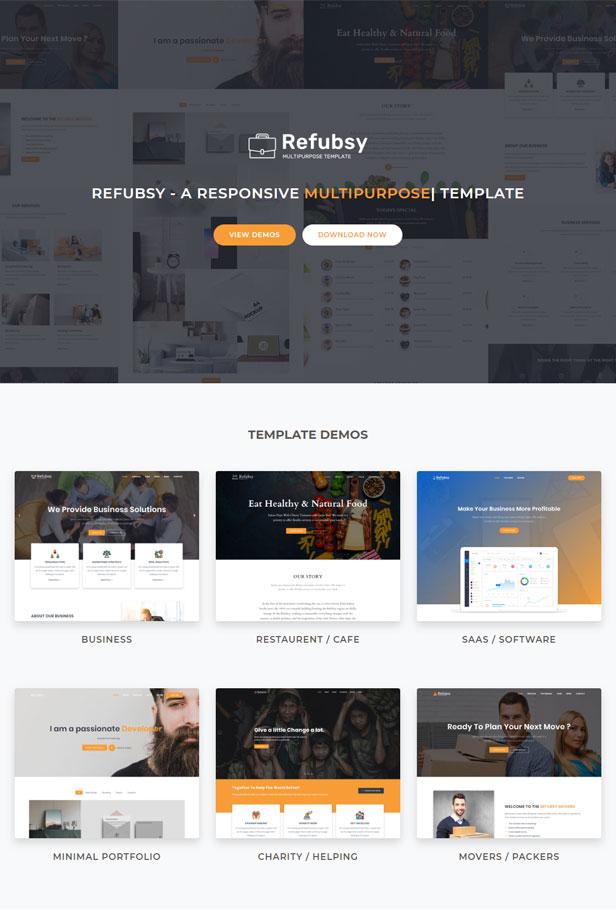 Refubsy - A Responsive Multipurpose Template - 1