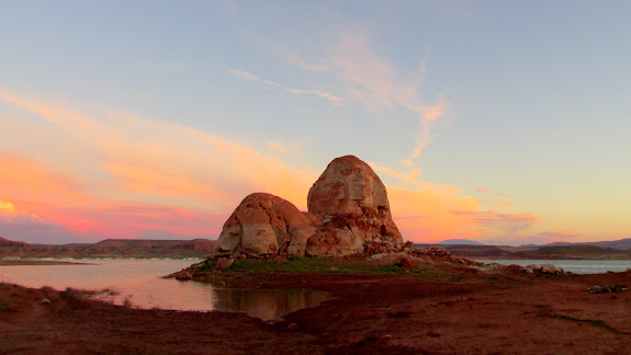 The Sphinx and colorful sky