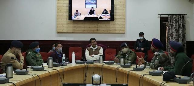 Div Comm Saugat Biswas Reviews Earthquake Preparedness in Ladakh