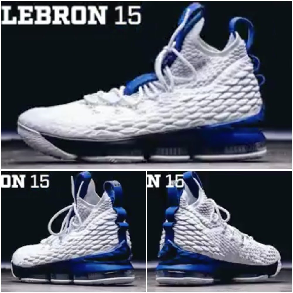 buy popular 51be6 11483 First Look at Duke Blue Devils' Nike LeBron 15 Home PE ...