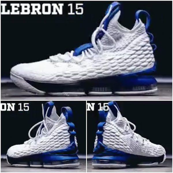 First Look at Duke Blue Devils Nike LeBron 15 Home PE