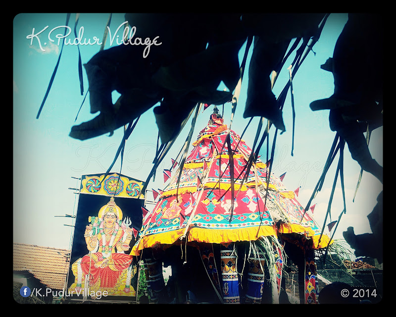 K.Pudur Village Chariot festival 2014 (The front of Chariot)