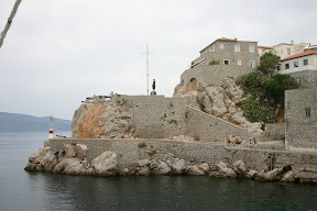 Fort guarding the entrance to the port of Hydra